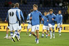 Sampdoria Genoa players warming-up Royalty Free Stock Photo