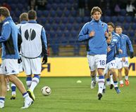 Sampdoria Genoa players warming-up Royalty Free Stock Photography