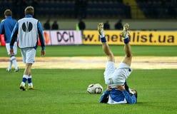 Sampdoria Genoa players warming-up Stock Image
