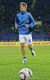 Sampdoria Genoa players warming-up Royalty Free Stock Photos