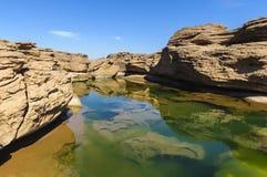 Samphanbok大峡谷在泰国 免版税库存照片