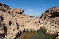 Samphanbok大峡谷在泰国 图库摄影