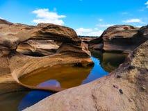 Samphanboke-ubonratchatani Grand Canyon in Thailand lizenzfreie stockfotos