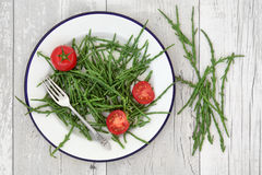 Samphire and Tomato Superfood Royalty Free Stock Photo