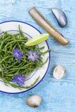 Samphire une herbe côtière également connue sous le nom de sald de haricots de mer de sallocornia images stock