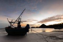 Samphraya-Strand in Thailand Stockfotos