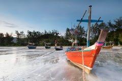 Samphraya-Strand in Thailand Stockfotografie