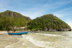 Samphraya-Strand in Thailand Stockbild