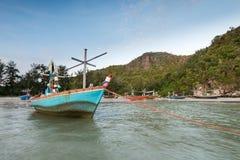 Samphraya-Strand in Thailand Stockbilder