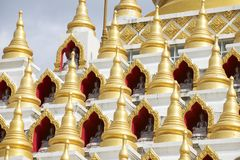 Samphutthe chedi near Wat Mani Phraison, Mae Sot, Tak, Thailand. Royalty Free Stock Photo