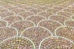 Sampietrini pavement in Rome, may be used as background Royalty Free Stock Image
