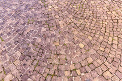 Sampietrini pavement in Rome, may be used as background Royalty Free Stock Photography