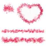 Sample abstract heart and lines Royalty Free Stock Photo