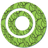 The sample of a background with circles. Vector illustration Stock Photos
