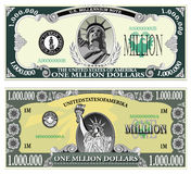Sample banknote of a million dollars Stock Images