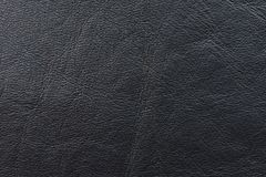 A sample of black leather cloth for sewing Royalty Free Stock Image
