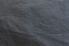 A sample of black leather cloth for sewing Stock Photography