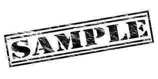 Sample black stamp Royalty Free Stock Images