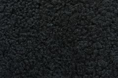 A sample of black wool leather cloth for sewing Royalty Free Stock Photo