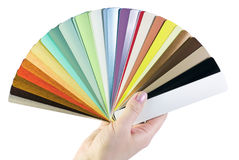 Sample blinds in the hand Stock Photography