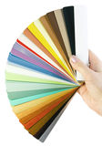 Sample blinds in hand Royalty Free Stock Images