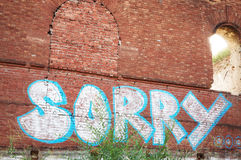 a sample of the brickwork surface Royalty Free Stock Photography