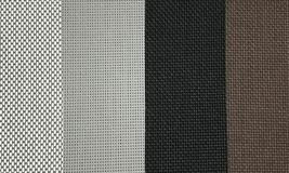 Sample of brown, black and gray PVC window shade. Sample of brown, black and gray window shade made from PVC Royalty Free Stock Images