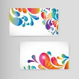 Sample business card with bright teardrop-shaped arches. Sample business vector card with bright teardrop-shaped arches Royalty Free Stock Image