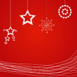 Sample Christmas background with snowflake. Stock Photos