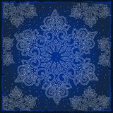 Sample Christmas colorful wrapping paper. The texture of the snowflakes. Sketch for greeting card, festive poster or. Party invitations.The attributes of Royalty Free Stock Photos