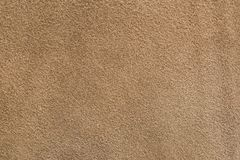 A sample of brown leather cloth for sewing royalty free stock images