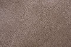 A sample of brown leather cloth for sewing Royalty Free Stock Photography