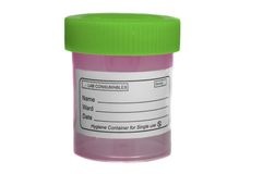 Sample collection container Stock Images