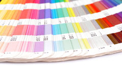 Sample colors catalogue stock image