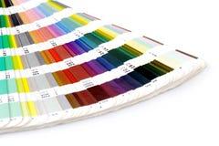 Sample colors catalogue. Pantone sample colors catalogue. Close up. Macro royalty free stock images