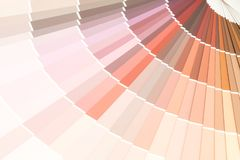sample colors catalogue pantone stock image
