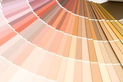 Sample colors catalogue pantone. Or colour swatches book royalty free stock image