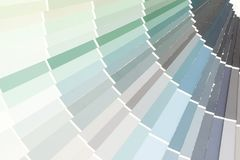 Sample colors catalogue pantone. Or colour swatches book royalty free stock photo