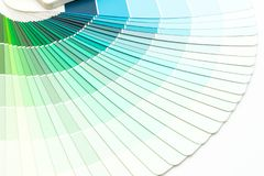 Sample colors catalogue pantone. Or colour swatches book stock photo
