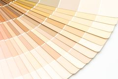 Sample colors catalogue pantone. Or colour swatches book royalty free stock photos