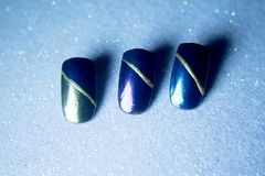 Sample with colors to paint nails