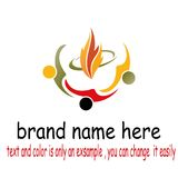 People fire logo. Sample design people fire logo vector Stock Photo