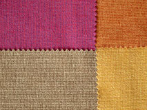 Sample Fabric Hot Tone Color royalty free stock photography