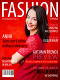 Sample fashion magazine cover. With woman Royalty Free Stock Photos