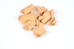 Sample of foundation tone cream. Face powder Stock Photo