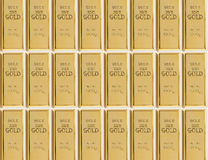 Sample of 999 gold bars Royalty Free Stock Images