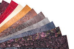Sample - a good quality leather in various colors Stock Image