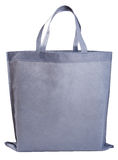 Sample gray non-woven bag. Isolated on white royalty free stock photography
