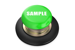 Sample green button Stock Image