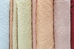 Sample of guipure fabric delicate color stock photos
